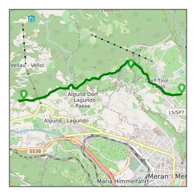 Wandertour Dorf Tirol -Algunder Waalweg