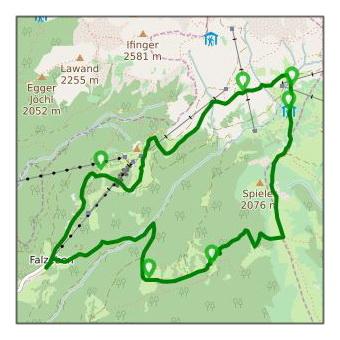Wandertour Dorf Tirol zum Longfall über Kuenser Waalweg zurück